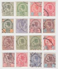 Thailand Siam 1899-1904 Stamp 3rd Issue Complete Set Sc#75-89 16 Values Used