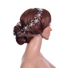 Wedding Bridal Prom Party Princess Crystal Flower Hair Band Tiara Headband NEW