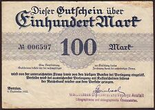 Germany  BUNZLAU  100 Mark  1922