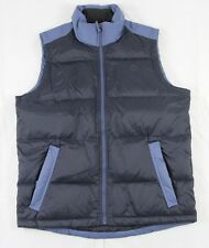 Timberland Blue & Black Full Zip Nylon 126G Down Filled Vest Size S BNWT