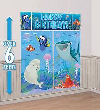FINDING DORY Scene Setter HAPPY BIRTHDAY party wall decoration NEMO fish Disney