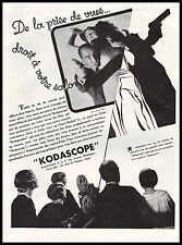 Publicité KODASCOPE  camera projecteur cinema film  ad  1932 - 11h