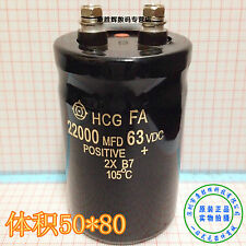Hitachi Screw Pin Electrolytic Capacitor 63V 22000uF 50*80mm original new J33 lx