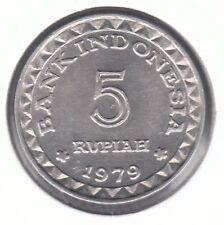 Indonesia 1979 5 Rupiah Aluminum Coin - Family Planning Program