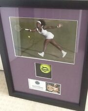 Serena Williams Hand Signed Photo Framed Display With COA Wimbledon Tennis Ball