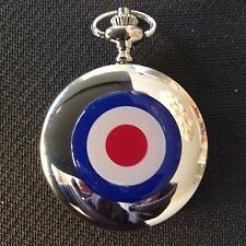 "POCKET WATCH NO.9  SILVER COLOURED MODS,""THE WHO"" LAMBRETTA  RAF,  COLLECTABLE"