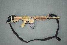 "BBI Toys 1/6 Tan M4 Assault Rifle Gun Weapon w/ Sling for 12"" Figures W-33"