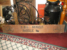 Antique Mercedes Benz Wood Plank Shipping Container-Roselle NJ-DBU-Wall Art