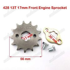 428 13T 17mm Engine Drive Front Sprocket Gear Chinese ATV Pit Dirt Bike Lifan YX