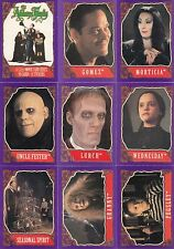 THE ADDAMS FAMILY MOVIE 1991 TOPPS COMPLETE BASE CARD + STICKER SET 99/11