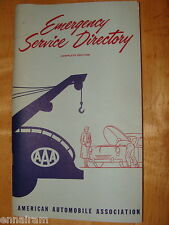 AAA American Automobile Assoc. 1954 Emergency Service Directory US Canada