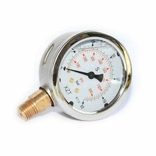 63mm-0-60BAR/900PSI(NPT1/4) Hydraulic Pressure Gauge Base Entry