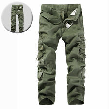 Fashion Men's Cotton Solid Combat Cargo Army Pants Military Camo Trousers New