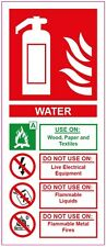 [ 200x85mm ] FIRE EXTINGUISHER - WATER - STICKER/SIGN - Health and Safety