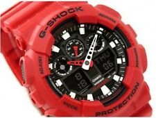 Casio G Shock *GA100B-4A Anadigi XL Matte Red Gshock Ivanandsophia COD PayPal