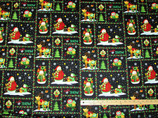 Hello Snow Penguins Henry Glass Christmas Flannel Fabric by the 1/2 Yard  #6386