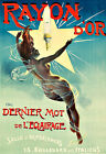 Art Ad Light lamp Rayon d'Or Lightbulb Deco Poster Print