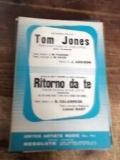 """SPARTITO COLONNA SONORA """"TON JONES"""" + """"RITORNO DA TE"""""""