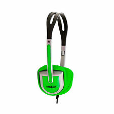 Urbanz BUZZ Childs Kids Small DJ Cool Headphones Earphones iPod iPad - Green