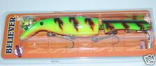 "8"" Believer Jointed Drifter Tackle Musky Pike Lure Crankbait Firetiger 800J-19"