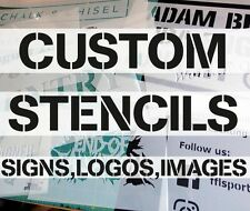 Custom stencils: Letters, Numbers, Signs, Logos, Images, durable Mylar stencils