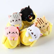 5pcs Anime Bananya Banana Cat Plush Toy Soft Stuffed Animal Doll 9cm Keychain