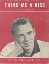 """JOHNNY REBB AND THE REBELS  Rare 1960 Aust Only Sheet Music """"Think Me A Kiss"""""""