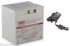 Power Wheels 12V Gray Battery Combo Set with 00801-0638 & 12 Volt Probe Charger