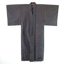 Japanese Vintage Men's Kimono Charcoal Check K45