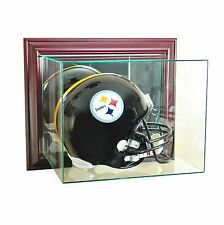 New Wall Mounted F/S Football Helmet Display Case GLASS NFL UV NCAA