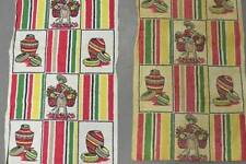 Vintage Printed MEXICAN Themed Dish Towels 33 x 16 * Perfect to FRAME