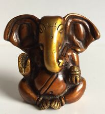 Ganesha 7cm Heavy 3inch Ganesh Brass elephant face god hinduism