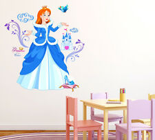 Wall Stickers Princess with Castle and Shoe Cartoon Design 6900092