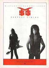 McAuley Schenker Group Perfect Timing UK magazine ADVERT / mini Poster 11x8""