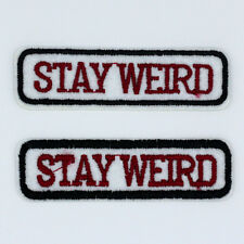 STAY WETRD letter New Hot sale DIY Embroidery Iron on patches sewing applique