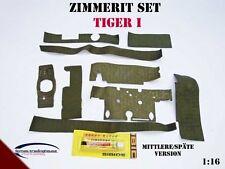 Zimmerit Set für  für Tiger 1 Panzer HENG LONG  TAIGEN 1:16 späte Version