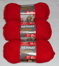 Bernat Softee Chunky Yarn Lot Of 3 Skeins (Berry Red #28705)