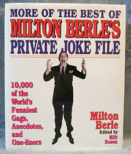 10,000 Of World's Funniest Private Jokes Gags Anecdotes 1-Liners Milton Berle J6