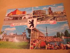 Schöne Mehrbild AK Berlin Gedächtniskirche Reichstag Philharmonie Funkturm B1192