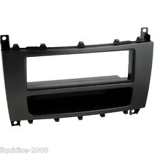 CT24MB04 MERCEDES BENZ C-CLASS 2004 to 2007 W203 BLACK SINGLE DIN FASCIA