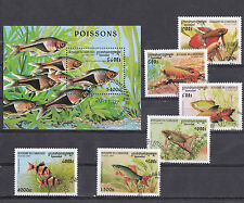 Cambodge 1997 - Block + Set - Vissen/Fish/Fische