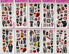 Halloween 10 sheets of stickers boys girls party loot bags fillers skull ghost