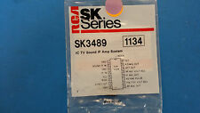 (1 PC) SK3489 RCA (NTE1134 EQUAL) IC TV SOUND IF AMP SYSTEM 16 PIN