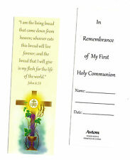 "1st First Holy Communion Bookmark ""JOHN 6:35 I am the bread of life; whoever...."