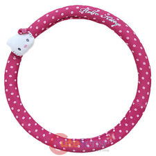 Sanrio Hello kitty Auto Car Steering Wheel Cover - Pink Polka Dots