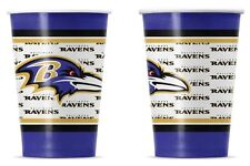Baltimore Ravens Disposable Paper Cups - 20 Pack [NEW] NFL Party Tailgate