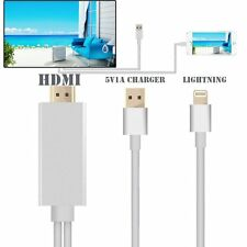 2M For iPhone Cable Connector To HDMI TV AV Cable Adapter For iPad Mini iPhone 6