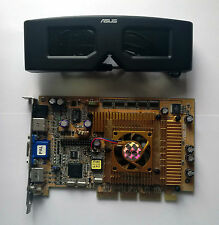 Asus V8200 Deluxe nVidia GeForce3 TI200 VIVO 64MB AGP VGA with VR Glass Test OK!
