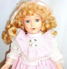 "SINGING SUE Royalton Collection 1998 Porcelain 14"" Doll Pink White Dress Brinns"