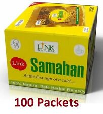 100 x Link SAMAHAN Ayurveda Ayurvedic Herbal Tea Natural Drink for Cough & Cold